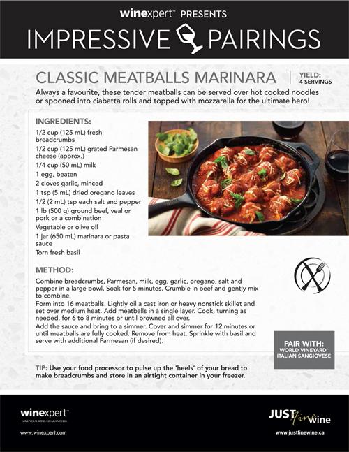 Classic Meatballs Marinara