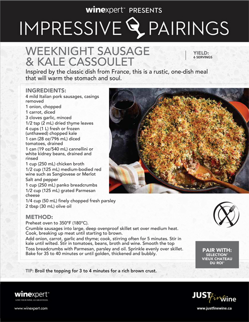 Weeknight Sausage and Kale Cassoulet
