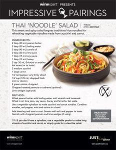 Impressive Pairings: Thai Noodle Salad